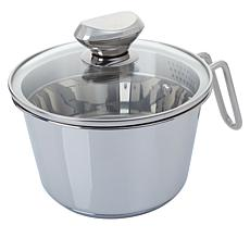 Wolfgang Puck 6-Cup Stainless Steel Weeknighter Pot with Colander Lid