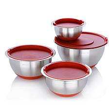 Wolfgang Puck 8-piece Stainless Steel Mixing Bowl Set