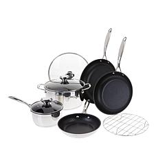 Wolfgang Puck Plasma Elite 9-piece Stainless Steel Cookware Set