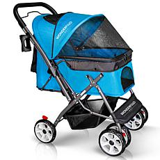 Wonderfold Wagon Pet Stroller w/ Zipperless Entry & Reversible Handle