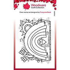 "Woodware Clear Singles 4"" x 6"" Stamp - Garden Rainbow"