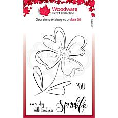 """Woodware Clear Singles 4"""" x 6"""" Stamp - Poppy Sketch"""