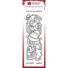 """Woodware Clear Singles 8"""" x 2.6"""" Stamp - Heart Border"""