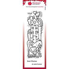 """Woodware Clear Singles 8"""" x 2.6"""" Stamp - Rainbow House"""
