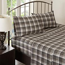Woolrich Cotton Flannel Brown Sheet Set - Queen