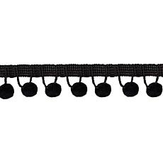 "Wrights 1-1/8"" Ball Fringe - 12 Yards/Black"