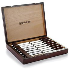 Wustof 8-piece Stainless Steel Steak Knife Set with Wooden Gift Box