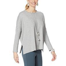 WynneLayers Boxy Soft Knit Poncho Sweater