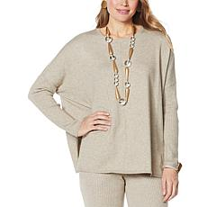 WynneLayers Boxy Soft Knit Poncho Sweater