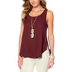 WynneLayers Crepe Georgette Shirttail Tank