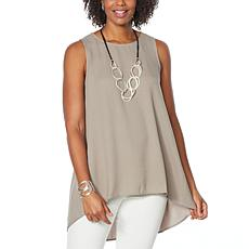 WynneLayers Crepe Georgette Sleeveless Tunic