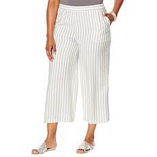 WynneLayers Malibu Stripe Wide-Leg Pant with Pockets