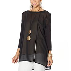 WynneLayers Mixed Media Dolman-Sleeve Tunic