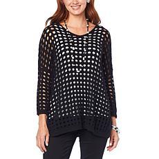 WynneLayers Open Stitch 3/4-Sleeve Sweater