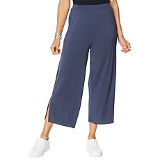 WynneLayers Pull-On Knit Wide Leg Crop Pant