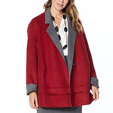 WynneLayers Reversible Melton Car Coat