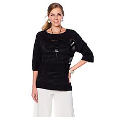 WynneLayers Shadow Stripe Boxy Sweater