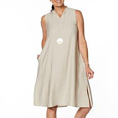 WynneLayers Sleeveless Crinkled Midi Dress