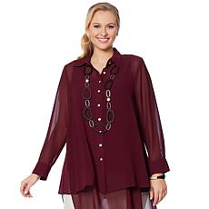 WynneLayers Solid Chiffon Shirt