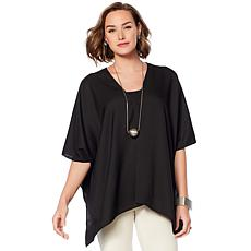 WynneLayers Solid Seam Front Poncho
