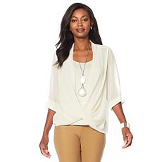 WynneLayers Surplice Front Blouse