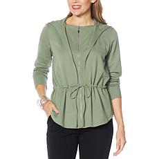 WynneLounge French Terry Zip-Front Hoodie