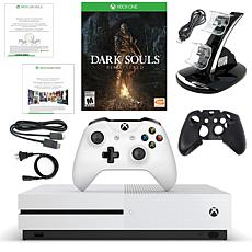 "Xbox One S 1TB 4K Console w/""Dark Souls Remastered"" Game & Accessories"