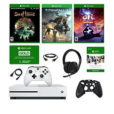"Xbox One S 1TB 4K ""Sea of Thieves"" Console w/2 Extra Games and Headset"