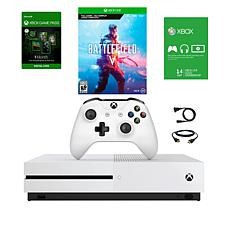 "Xbox One S 1TB Console with ""Battlefield V"" and ""Hitman 2"""