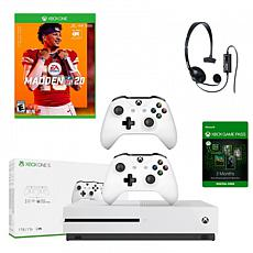 Xbox One S 1TB Console with Madden 20 and Gaming Accessories