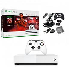 Xbox One S 1TB Console with NBA 2K20 and 10-in-1 Kit