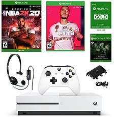 Xbox One S 1TB NBA 2K20 with Fifa 20 and Accessories