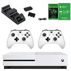 Xbox One S with Gaming Pass and Dual Charger