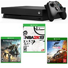 Xbox One X 1TB 4K Console with 3 Games and Game Pass Trial