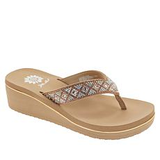 Yellow Box Achillas Platform Wedge Thong Sandal