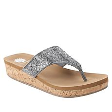 Yellow Box Cristal Embellished Thong Sandal