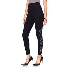 Yummie Compact Cotton Embroidered Legging