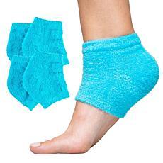 ZenToes Fuzzy Moisturizing Gel Heel Socks