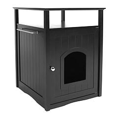 zoovilla Cat Washroom Litter Box Cover Or Night Stand Pet House