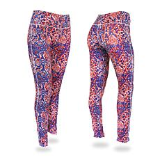 Zubaz Blue, Red and Gray Post Print Leggings