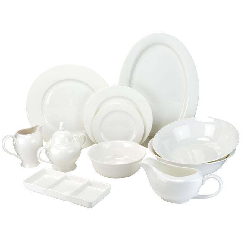 10 Strawberry Street 32-piece Bone China Dinnerware Set - White