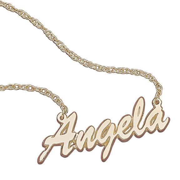 10K Gold Script Name Necklace