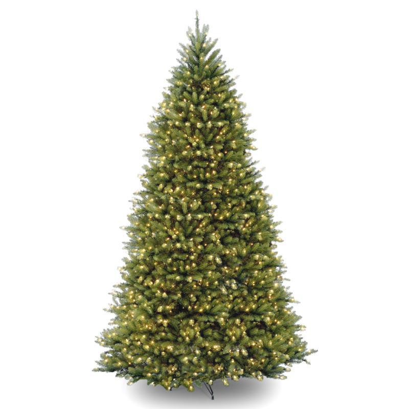 12' Dunhill Fir Hinged Tree w/Lights