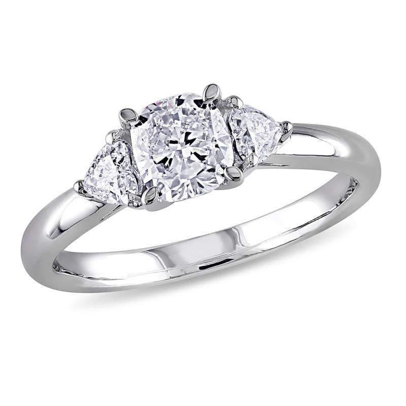 14K White Gold 0.95ctw 3-Stone Diamond Engagement Ring