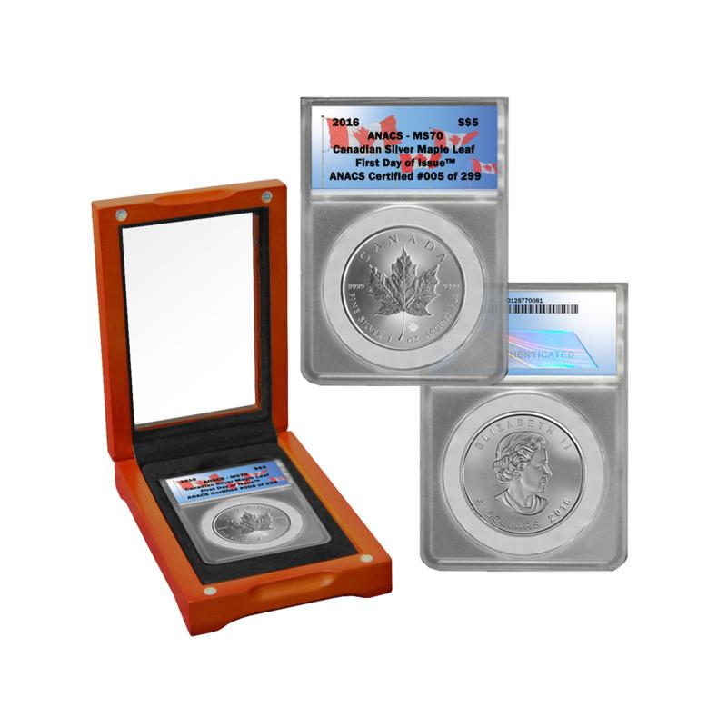 2016 MS70 First Day of Issue Limited Edition 299 Canada Maple Leaf $5 Silver Co   8061345