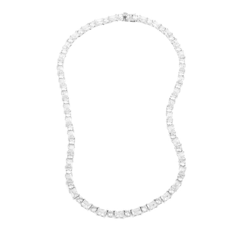 """28.25ctw Absolute™ Round and Radiant 16"""" Line Necklace"""