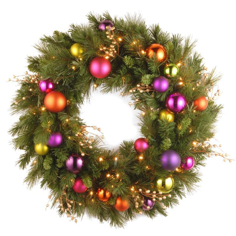 "30""Battery-Operated Kaleidoscope Wreath"
