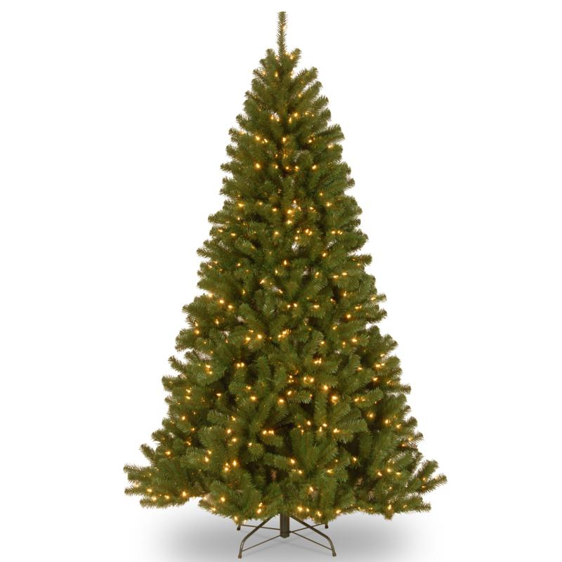 7-1/2' N. Valley Spruce Hinged Tree w/LED Lights