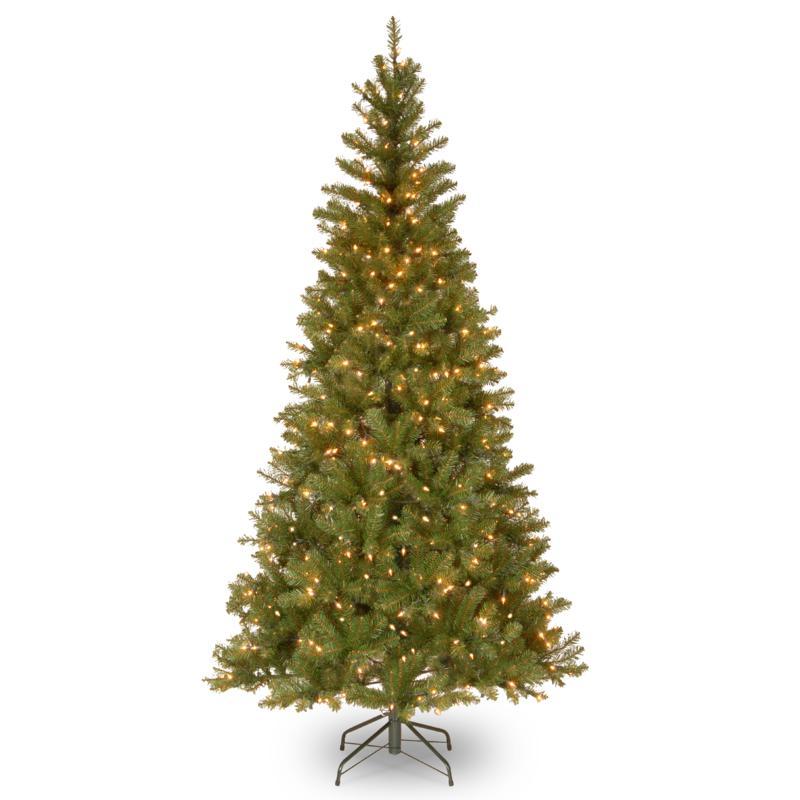 7' Aspen Spruce Hinged Tree w/Lights