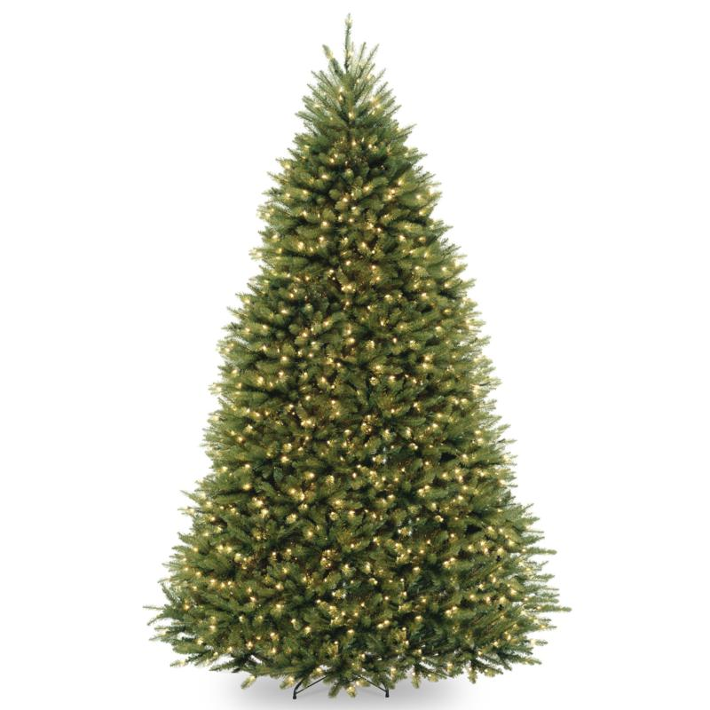 9' Dunhill Fir Hinged Tree w/Lights